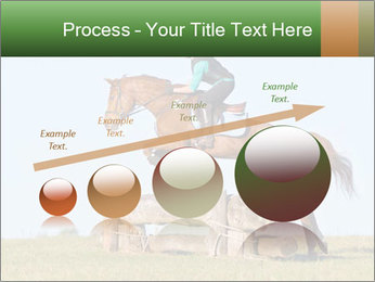 Woman jumping horse PowerPoint Template - Slide 87