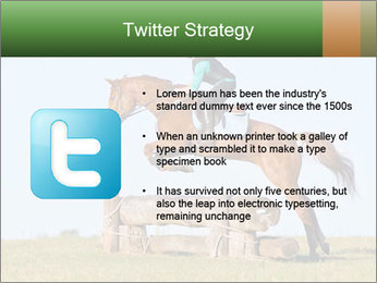 Woman jumping horse PowerPoint Template - Slide 9