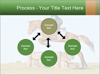 Woman jumping horse PowerPoint Template - Slide 91