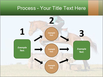 Woman jumping horse PowerPoint Template - Slide 92