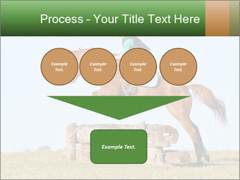 Woman jumping horse PowerPoint Template - Slide 93