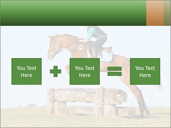 Woman jumping horse PowerPoint Template - Slide 95