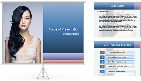 Woman measuring her body PowerPoint Template