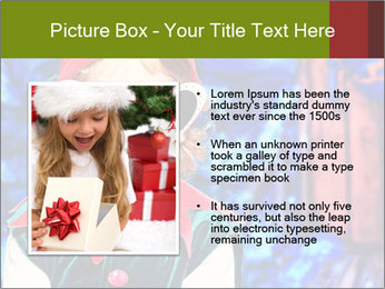 Little girl in Christmas elf costume PowerPoint Templates - Slide 13