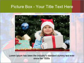 Little girl in Christmas elf costume PowerPoint Templates - Slide 16
