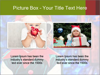 Little girl in Christmas elf costume PowerPoint Templates - Slide 18