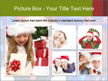 Little girl in Christmas elf costume PowerPoint Templates - Slide 19
