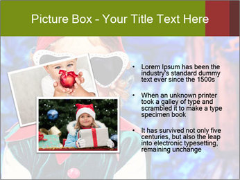 Little girl in Christmas elf costume PowerPoint Templates - Slide 20