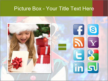 Little girl in Christmas elf costume PowerPoint Templates - Slide 21