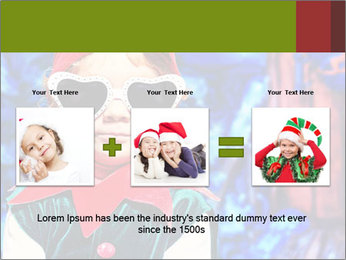 Little girl in Christmas elf costume PowerPoint Templates - Slide 22