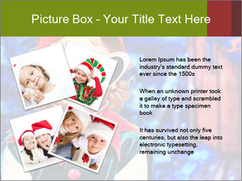 Little girl in Christmas elf costume PowerPoint Templates - Slide 23