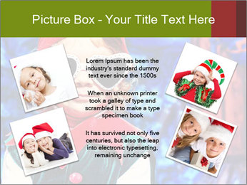 Little girl in Christmas elf costume PowerPoint Templates - Slide 24