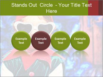 Little girl in Christmas elf costume PowerPoint Templates - Slide 76