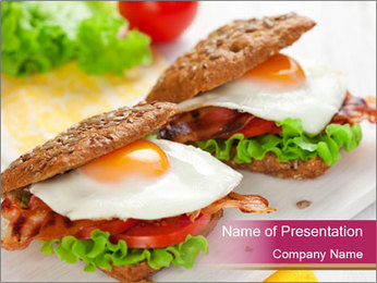 Fried egg PowerPoint Templates - Slide 1