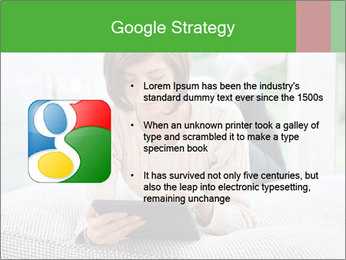 Woman using tablet pc PowerPoint Template - Slide 10