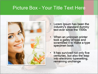 Woman using tablet pc PowerPoint Template - Slide 13