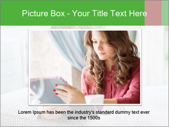 Woman using tablet pc PowerPoint Templates - Slide 15