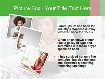 Woman using tablet pc PowerPoint Template - Slide 17