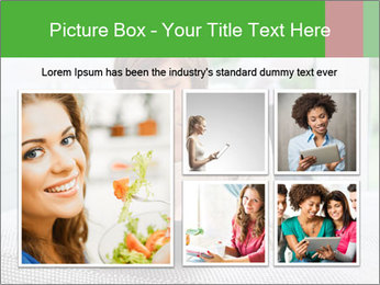 Woman using tablet pc PowerPoint Template - Slide 19