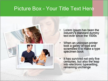 Woman using tablet pc PowerPoint Template - Slide 20