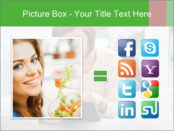 Woman using tablet pc PowerPoint Template - Slide 21
