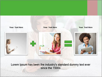 Woman using tablet pc PowerPoint Templates - Slide 22