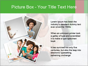 Woman using tablet pc PowerPoint Template - Slide 23