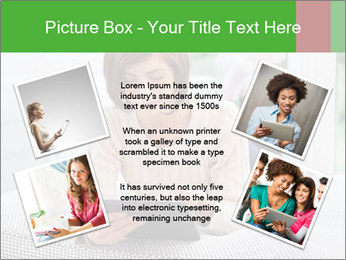 Woman using tablet pc PowerPoint Template - Slide 24