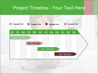 Woman using tablet pc PowerPoint Template - Slide 25