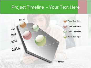 Woman using tablet pc PowerPoint Templates - Slide 26