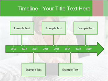 Woman using tablet pc PowerPoint Template - Slide 28