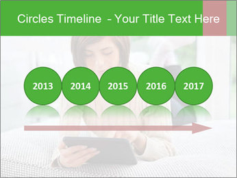 Woman using tablet pc PowerPoint Template - Slide 29