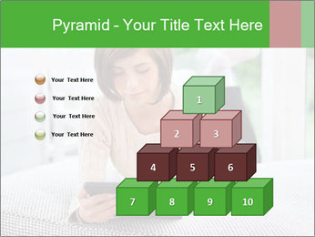 Woman using tablet pc PowerPoint Template - Slide 31