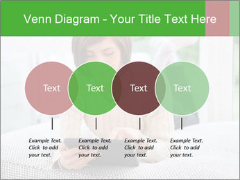 Woman using tablet pc PowerPoint Template - Slide 32