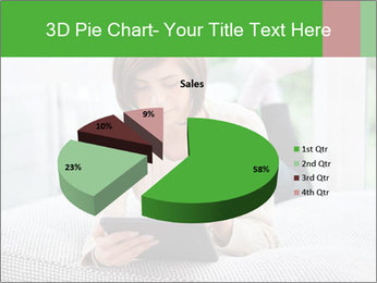 Woman using tablet pc PowerPoint Templates - Slide 35