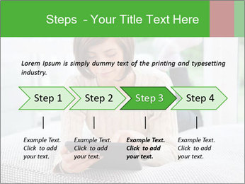 Woman using tablet pc PowerPoint Template - Slide 4