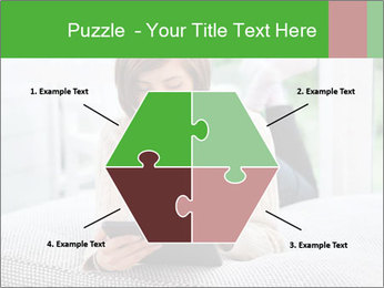 Woman using tablet pc PowerPoint Template - Slide 40