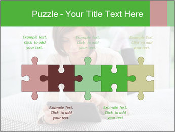 Woman using tablet pc PowerPoint Template - Slide 41