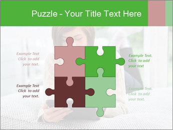 Woman using tablet pc PowerPoint Template - Slide 43