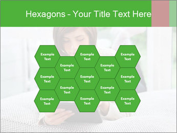 Woman using tablet pc PowerPoint Template - Slide 44