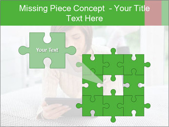 Woman using tablet pc PowerPoint Template - Slide 45