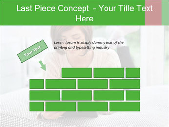 Woman using tablet pc PowerPoint Template - Slide 46