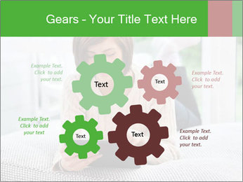 Woman using tablet pc PowerPoint Template - Slide 47