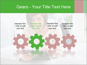 Woman using tablet pc PowerPoint Template - Slide 48