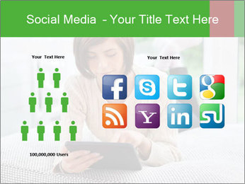 Woman using tablet pc PowerPoint Template - Slide 5