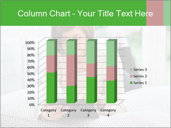 Woman using tablet pc PowerPoint Templates - Slide 50