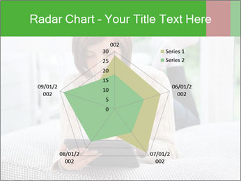 Woman using tablet pc PowerPoint Template - Slide 51