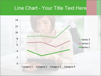 Woman using tablet pc PowerPoint Templates - Slide 54