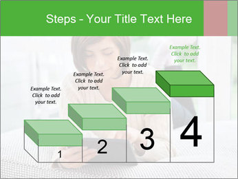 Woman using tablet pc PowerPoint Template - Slide 64