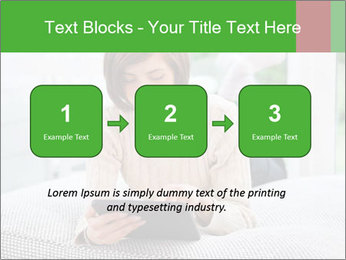 Woman using tablet pc PowerPoint Template - Slide 71